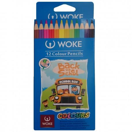مداد رنگی مقوائی 12 رنگ ووک